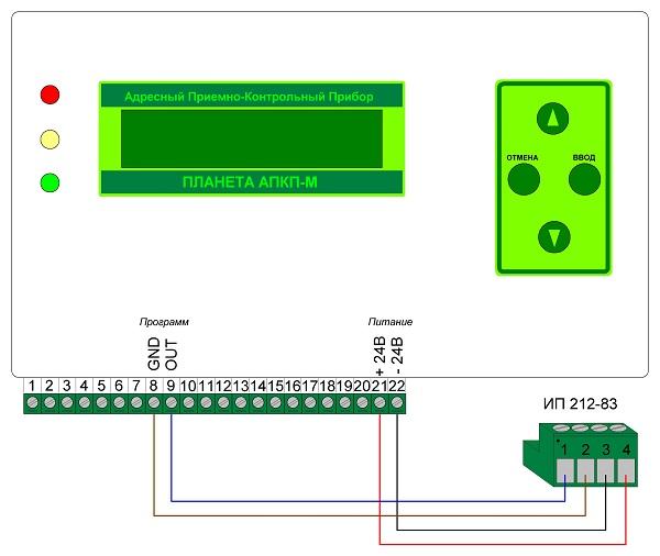 Программирование ИП 212-83 с помощью «Планета-АПКП-М»