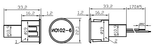 Извещатель охранный точечный магнитоконтактный ИО 102-6, ИО 102-6П
