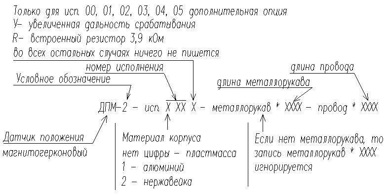 Датчики положения магнитогерконовые ДПМ-2
