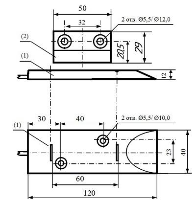 Извещатель охранный точечный магнитоконтактный высокотомпературный ИО 102-50 (СМК-20)