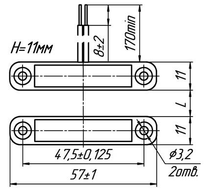Извещатель охранный точечный магнитоконтактный ИО 102-52