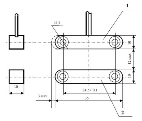 Извещатель охранный точечный магнитоконтактный ИО 102-54