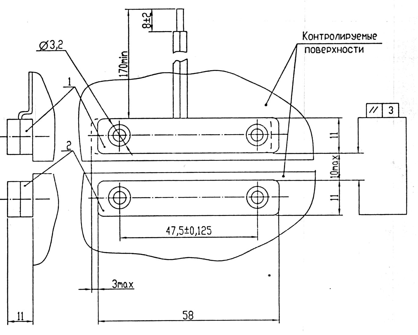 Извещатель охранный точечный магнитоконтактный ИО 102-2