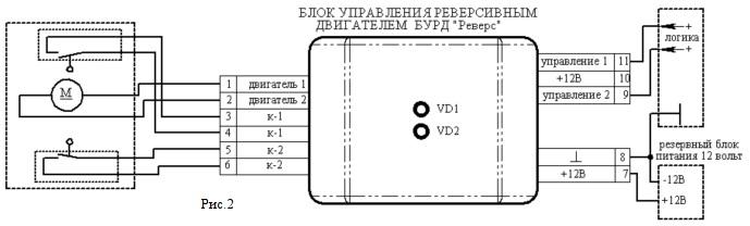 Блок управления реверсивным двигателем БУРД «Реверс»