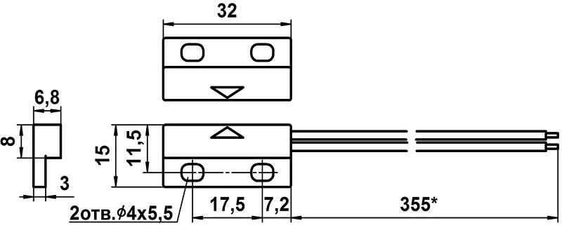 Извещатель охранный точечный магнитоконтактный ИО 102-48
