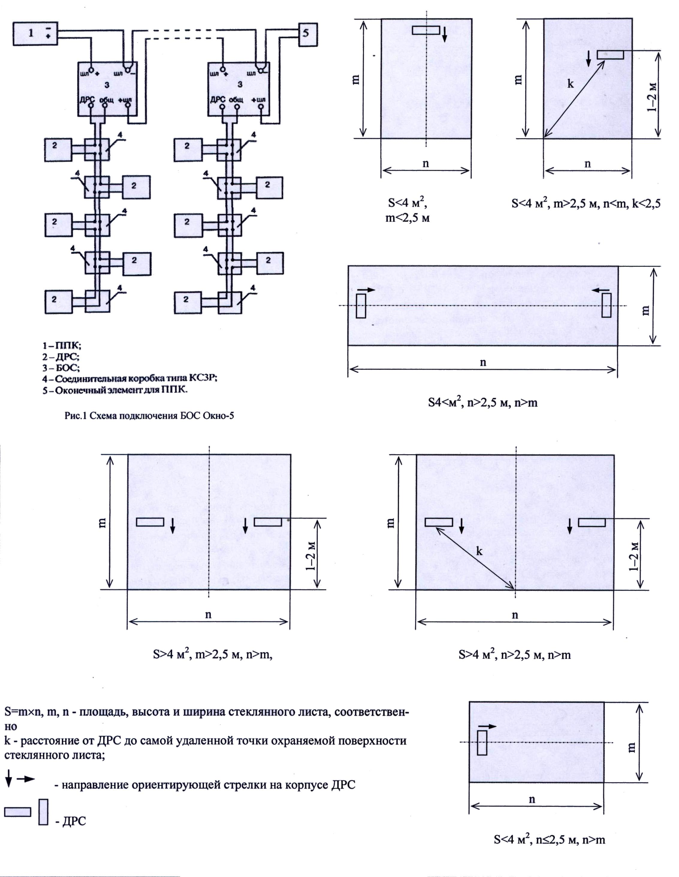 Извещатель охранный поверхностный ударноконтактный ИО 303-4 ОКНО–5